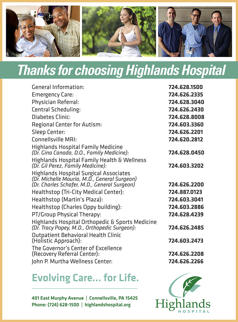 Highlands Hospital Phone Numbers